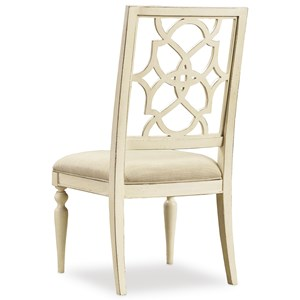 Hooker Furniture Sandcastle Fretback Side Chair - Upholstered Seat