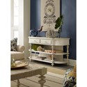 Hooker Furniture Sandcastle Console Table with 2 Shelves and 2 Drawers