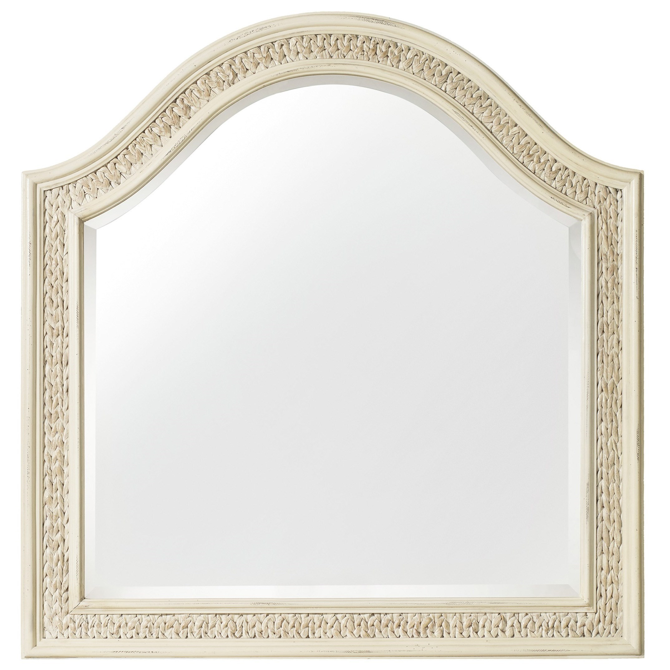 Hooker Furniture Sandcastle Mirror with Woven Sea Grass - Item Number: 5900-90004-WH