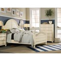 Hooker Furniture Sandcastle Queen Wood Panel Bed with Turned Finials