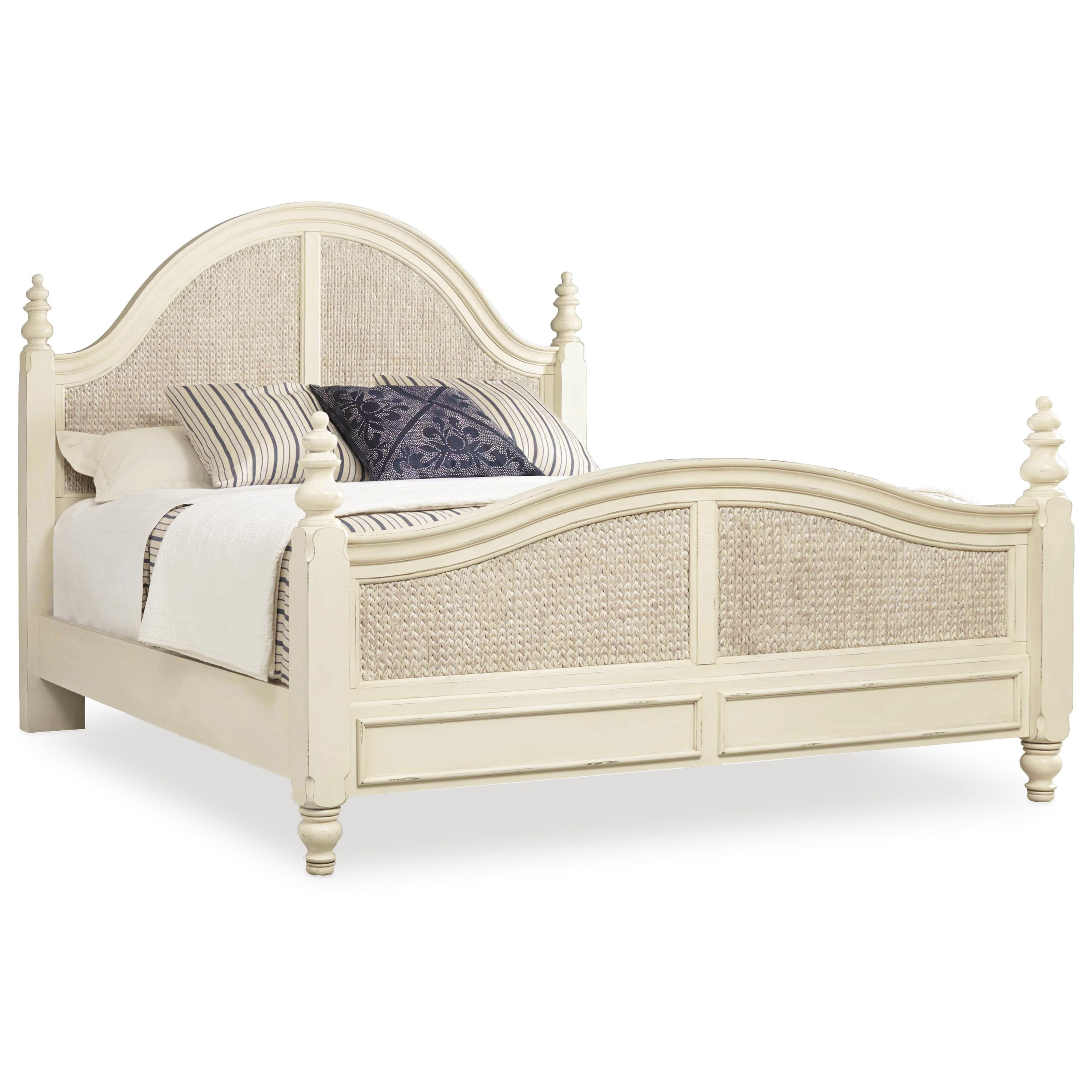 Hooker Furniture Sandcastle Queen Woven Panel Bed - Item Number: 5900-90250-WH