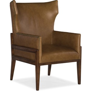 Burrell Leather Accent Chair