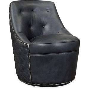 Segura Leather Swivel Accent Chair