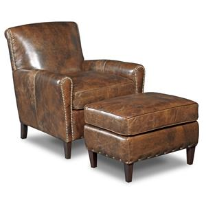 Hooker Furniture Club Chairs Club Chair and Ottoman