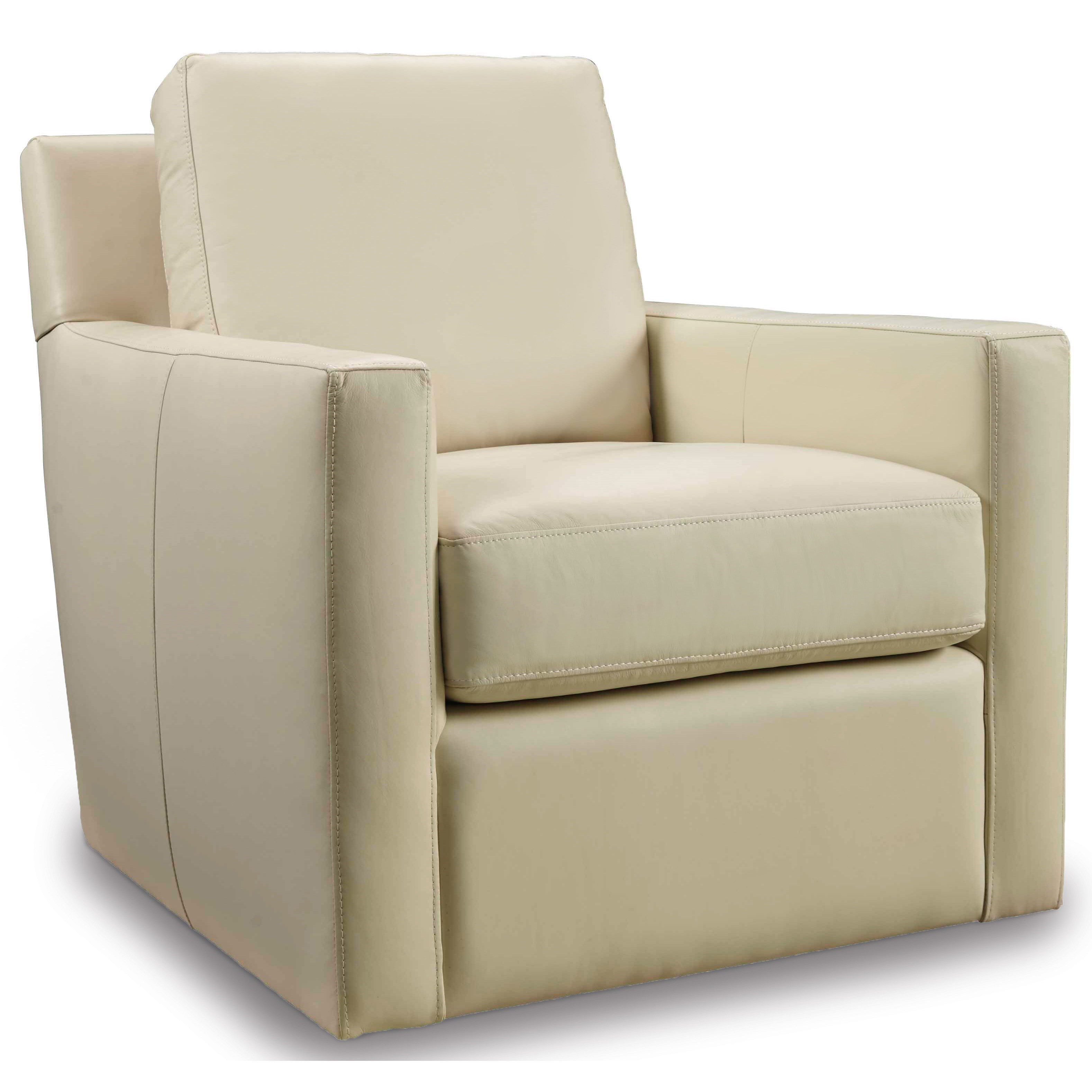 Hooker Furniture Club Chairs Contemporary Cream Swivel