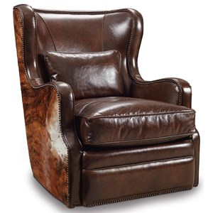 Hooker Furniture Club Chairs Swivel Club Chair