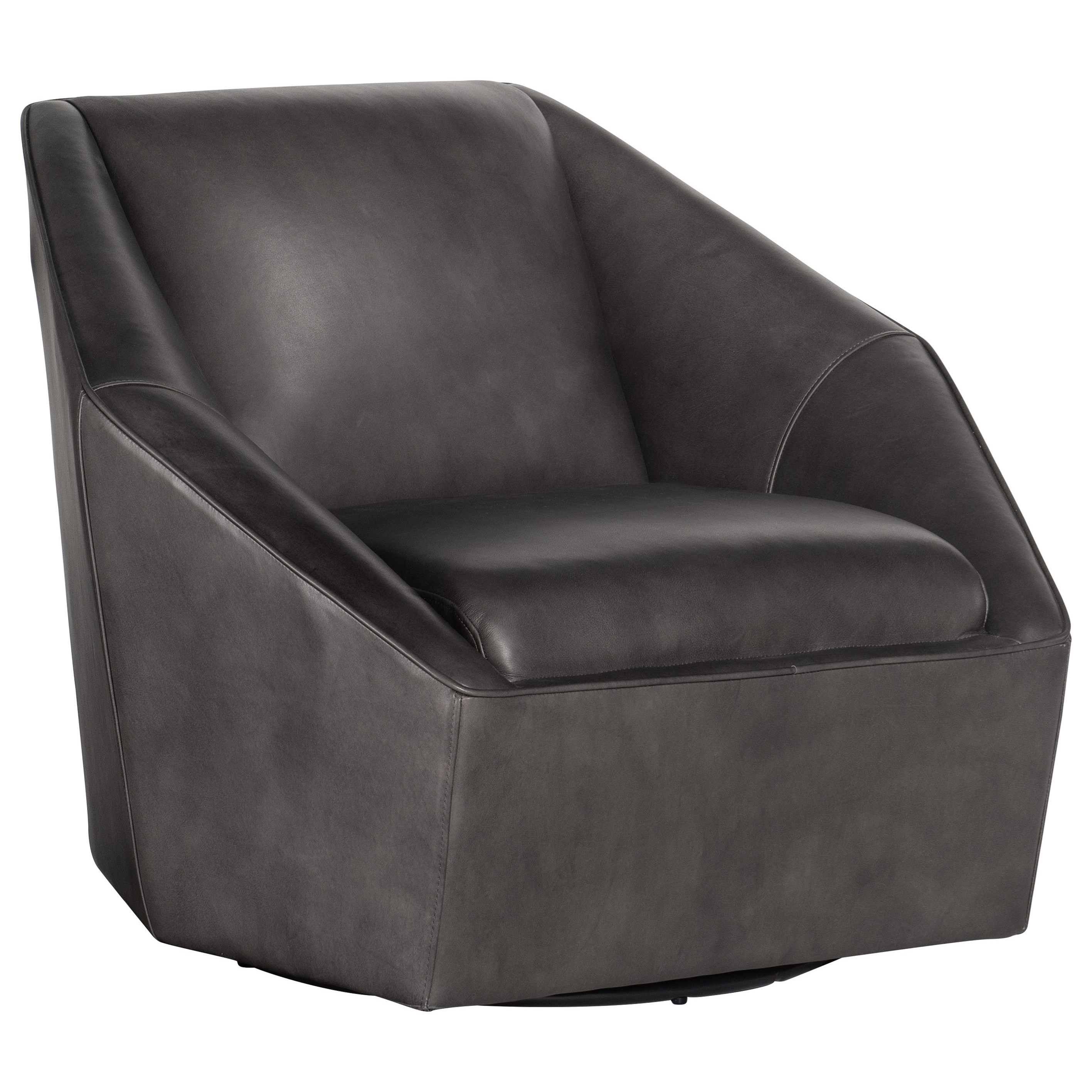Picture of: Hooker Furniture Club Chairs Contemporary Hepta Swivel Club Chair Pedigo Furniture Upholstered Chairs