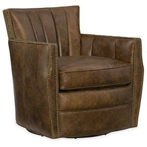 Hooker Furniture Club Chairs Carson Swivel Club Chair