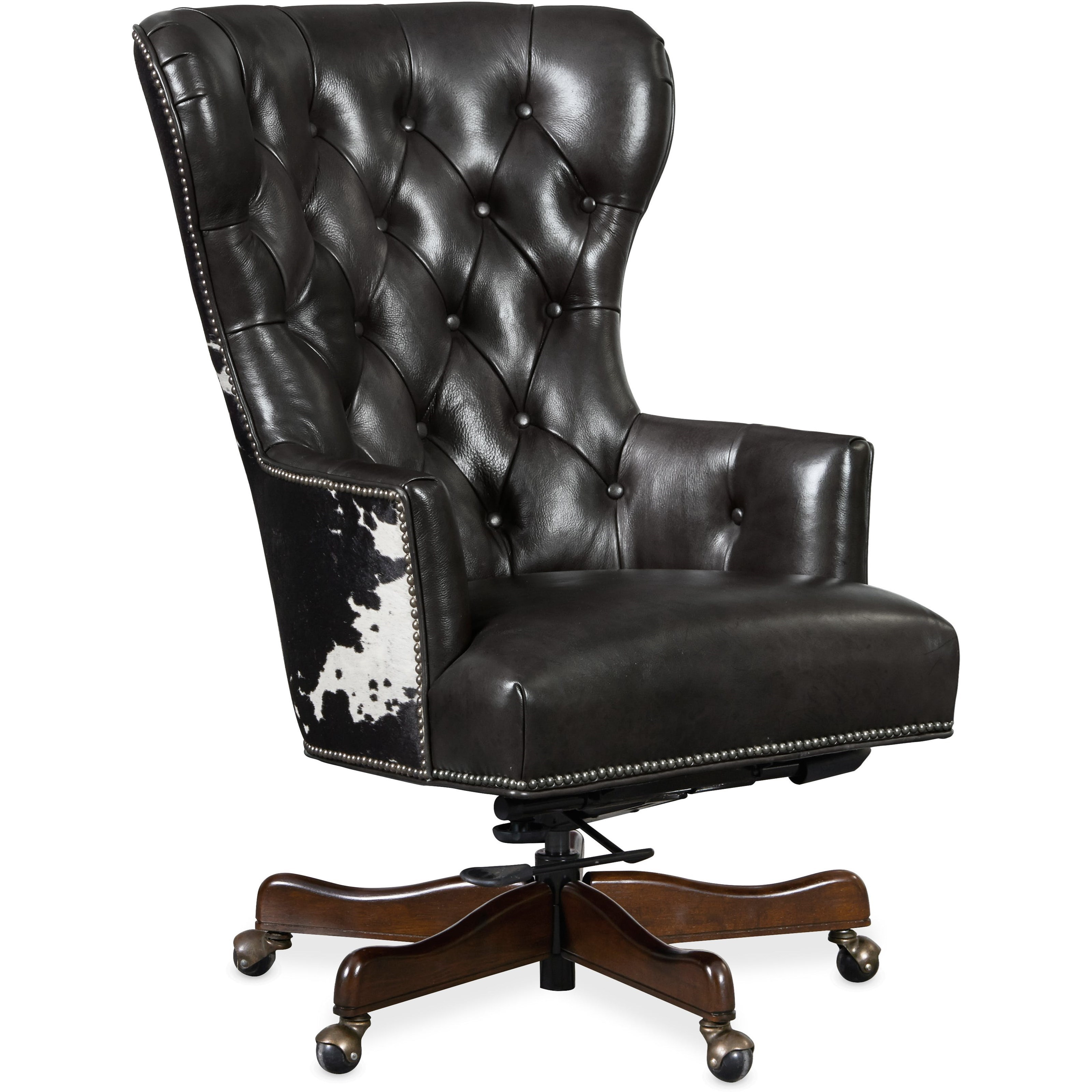 Hooker Furniture Executive Seating Ec448 097 Traditional Home Office Chair With Tufting Dunk Bright Furniture Executive Desk Chairs