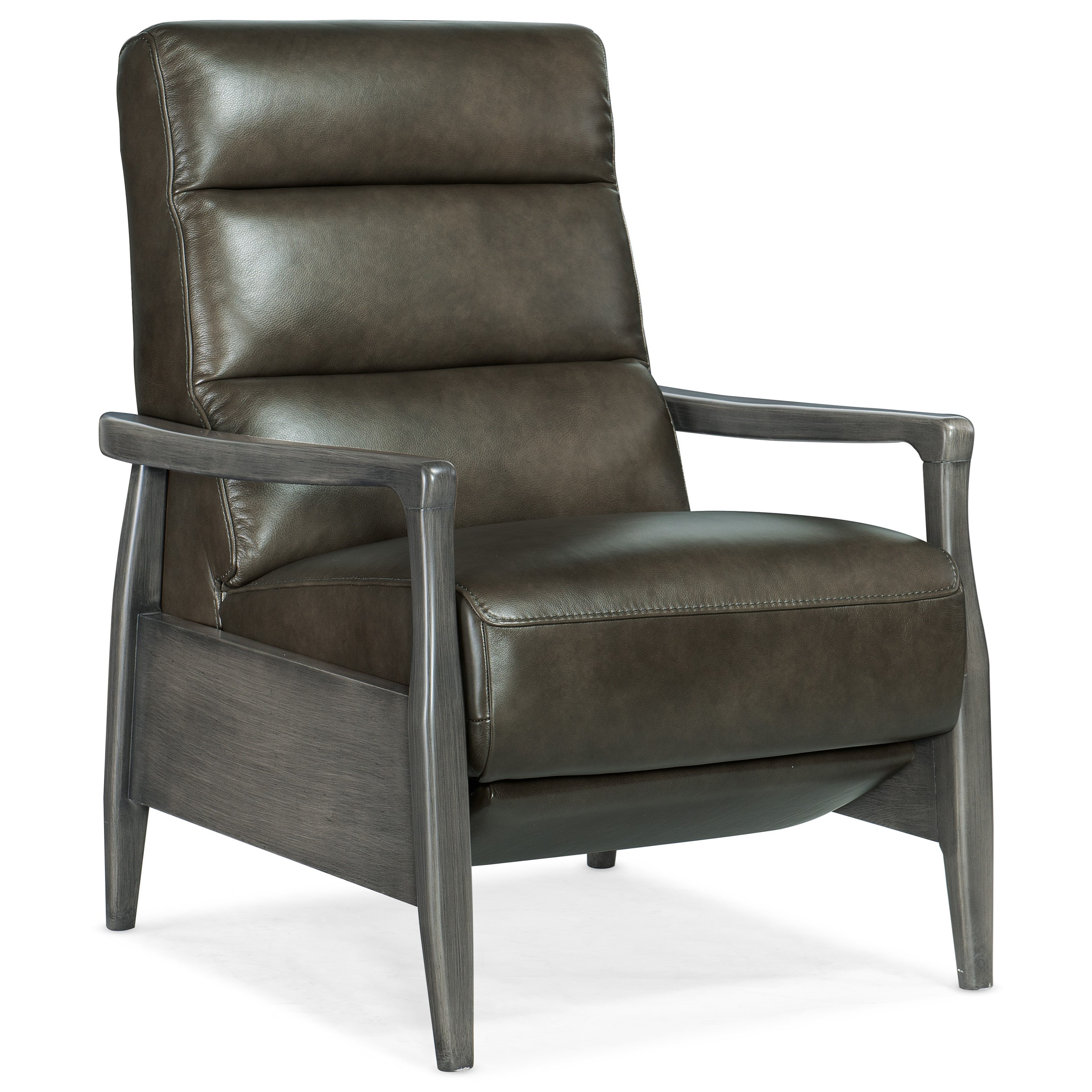 Reclining Chairs Pushback Recliner with Exposed Wood by Hooker Furniture at Baer's Furniture