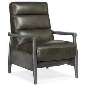 Pushback Recliner with Exposed Wood
