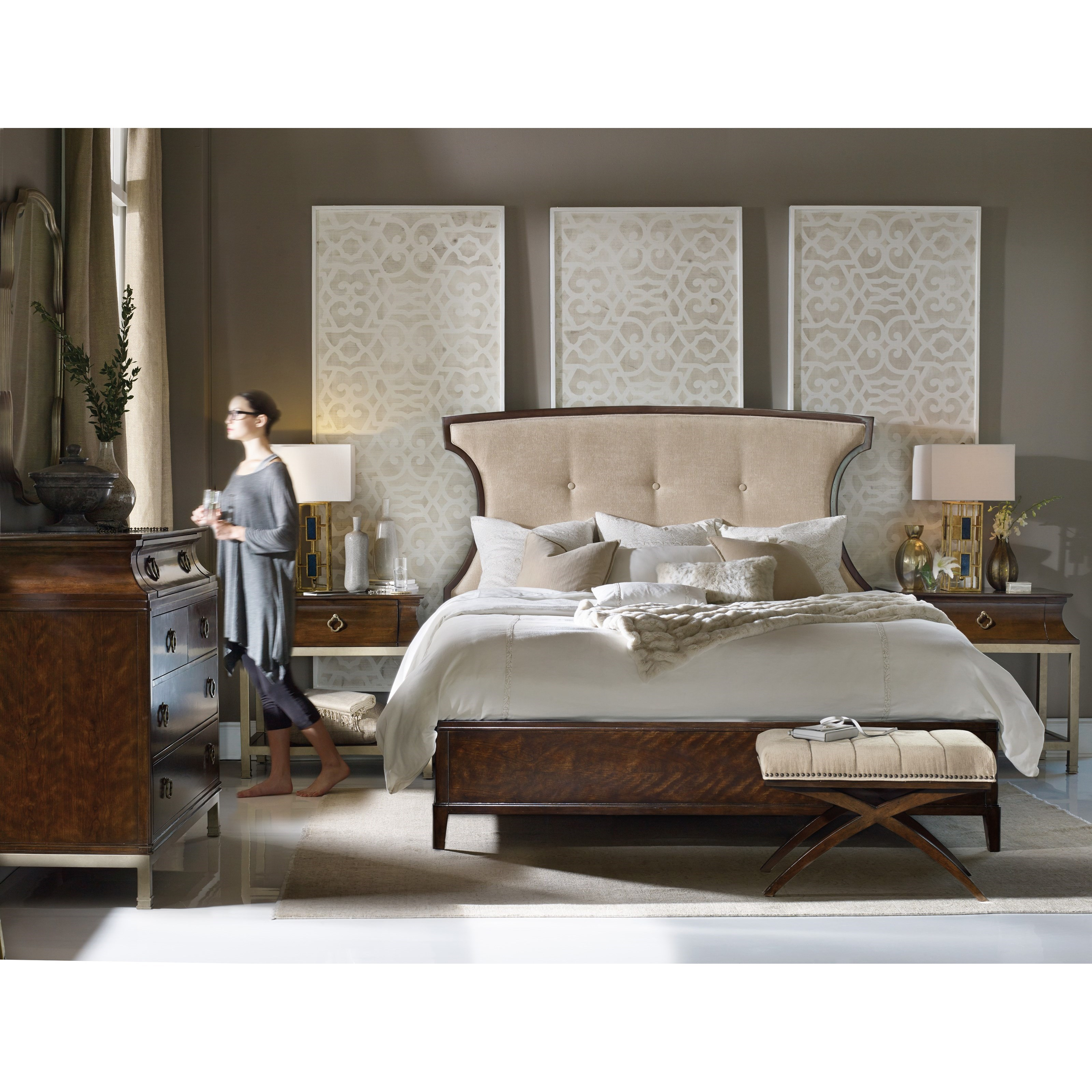 Hooker Furniture Skyline King Bedroom Group   Item Number: 5336 K Bedroom  Group 2