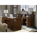 Hooker Furniture Skyline Executive Desk with 2 Locking File Drawers