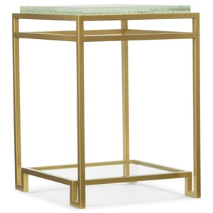 Hooker Furniture Skyline Floating Shelf Accent End Table