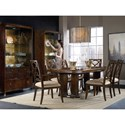 Hooker Furniture Skyline Trestle Dining Table with Metal Stretcher