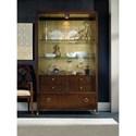 Hooker Furniture Skyline Display Cabinet with Gold Leaf Back Panel