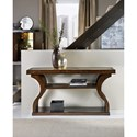 Hooker Furniture Skyline Accent Console Table with Gold Leaf Top