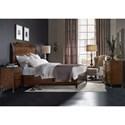Hooker Furniture Skyline King Platform Sleigh Bed with Metal Ferrules