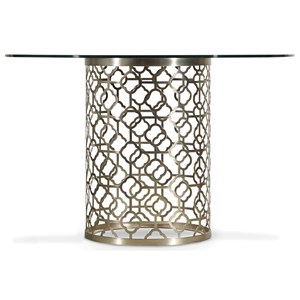 Hooker Furniture Skyline Round Glass Top Dining Table