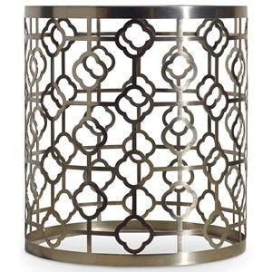 Hooker Furniture Skyline Round End Table with Glass Top