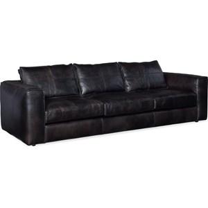 Leather Stationary Sofa