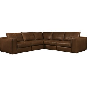 Leather Stationary Sectional