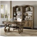 Hooker Furniture Solana Writing Desk with Leather Panel and 2 Drawers