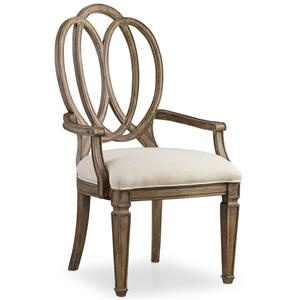 Hooker Furniture Solana Wood Back Arm Chair