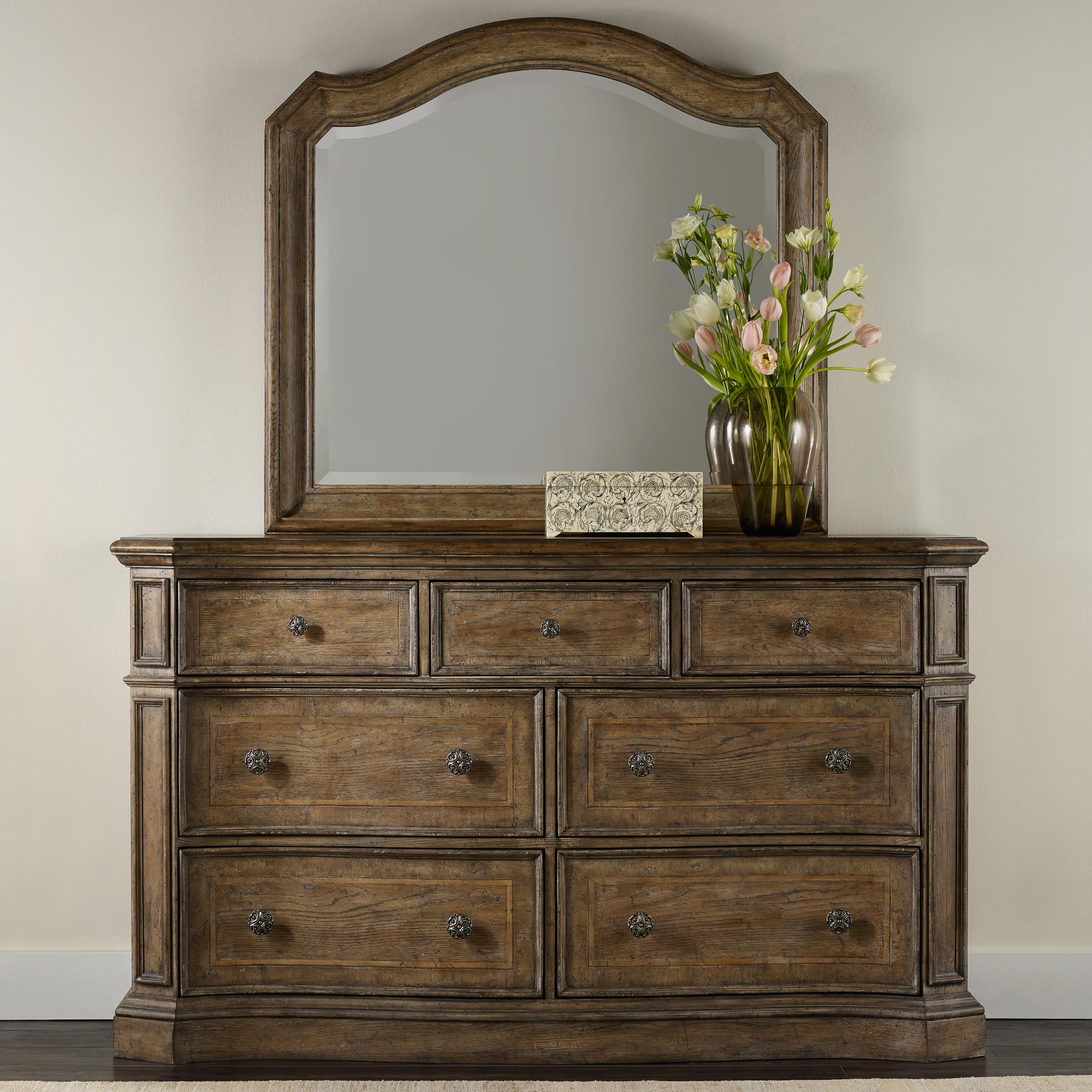 Hooker Furniture Solana Dresser and Mirror Set - Item Number: 5291-90002+8
