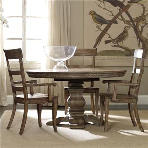 Hooker Furniture Sorella Pedestal Table and Ladderback Chair Set