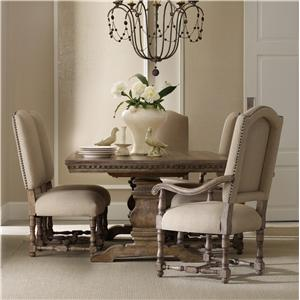 Hooker Furniture Sorella Rectangular Table with Upholstered Chairs