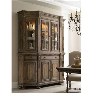 Hooker Furniture Sorella Credenza and Four Door Hutch