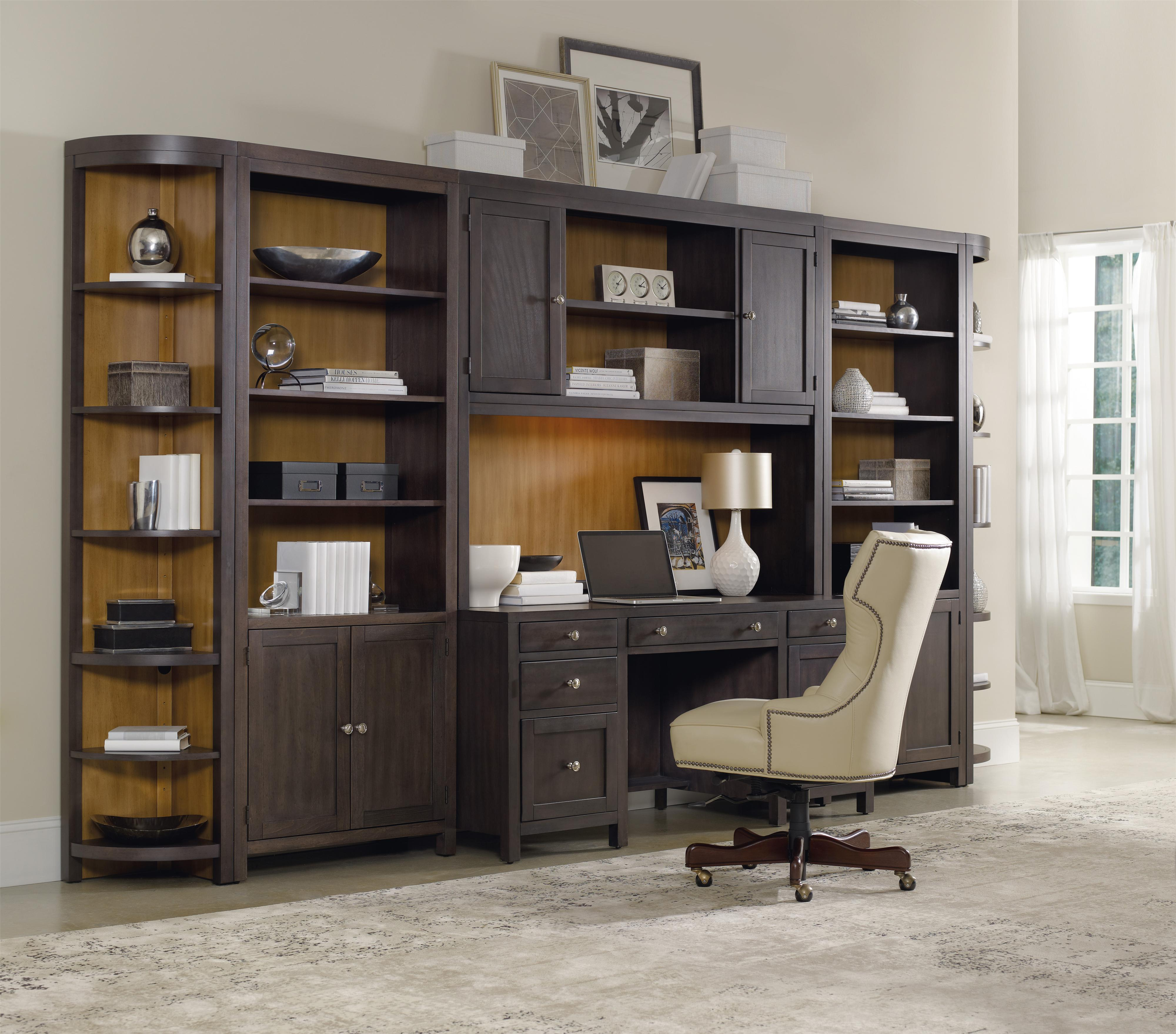 Hooker Furniture South Park Bunching Bookcase With 3
