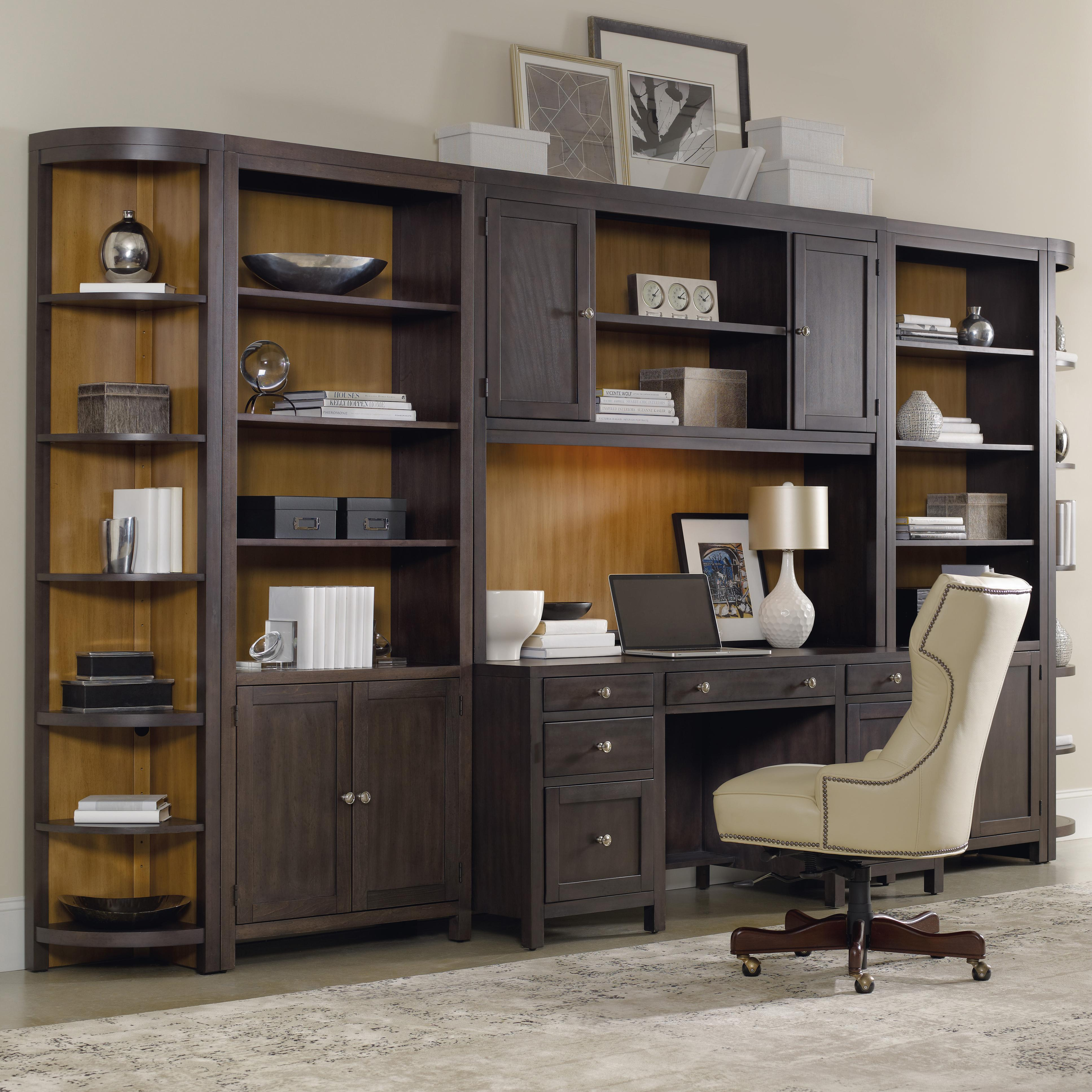Terrific South Park Home Office Wall Unit With Computer Credenza By Hooker Furniture At Dunk Bright Furniture Home Interior And Landscaping Spoatsignezvosmurscom