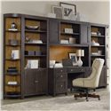 Hooker Furniture South Park Home Office Wall Unit - Item Number: 5078-10464+67+2x45+2x50