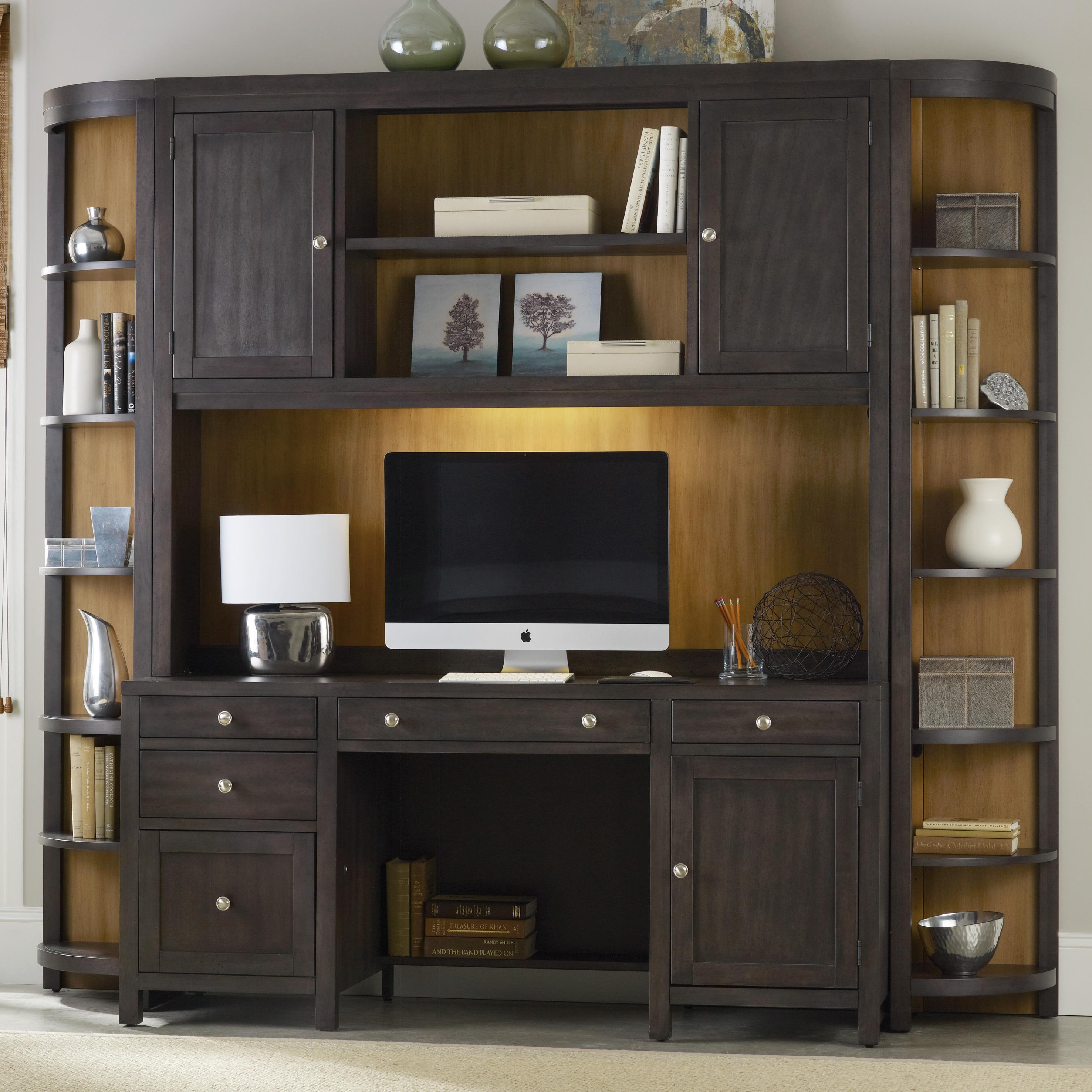 Furniture South Park Computer Credenza Wall Unit With Bar