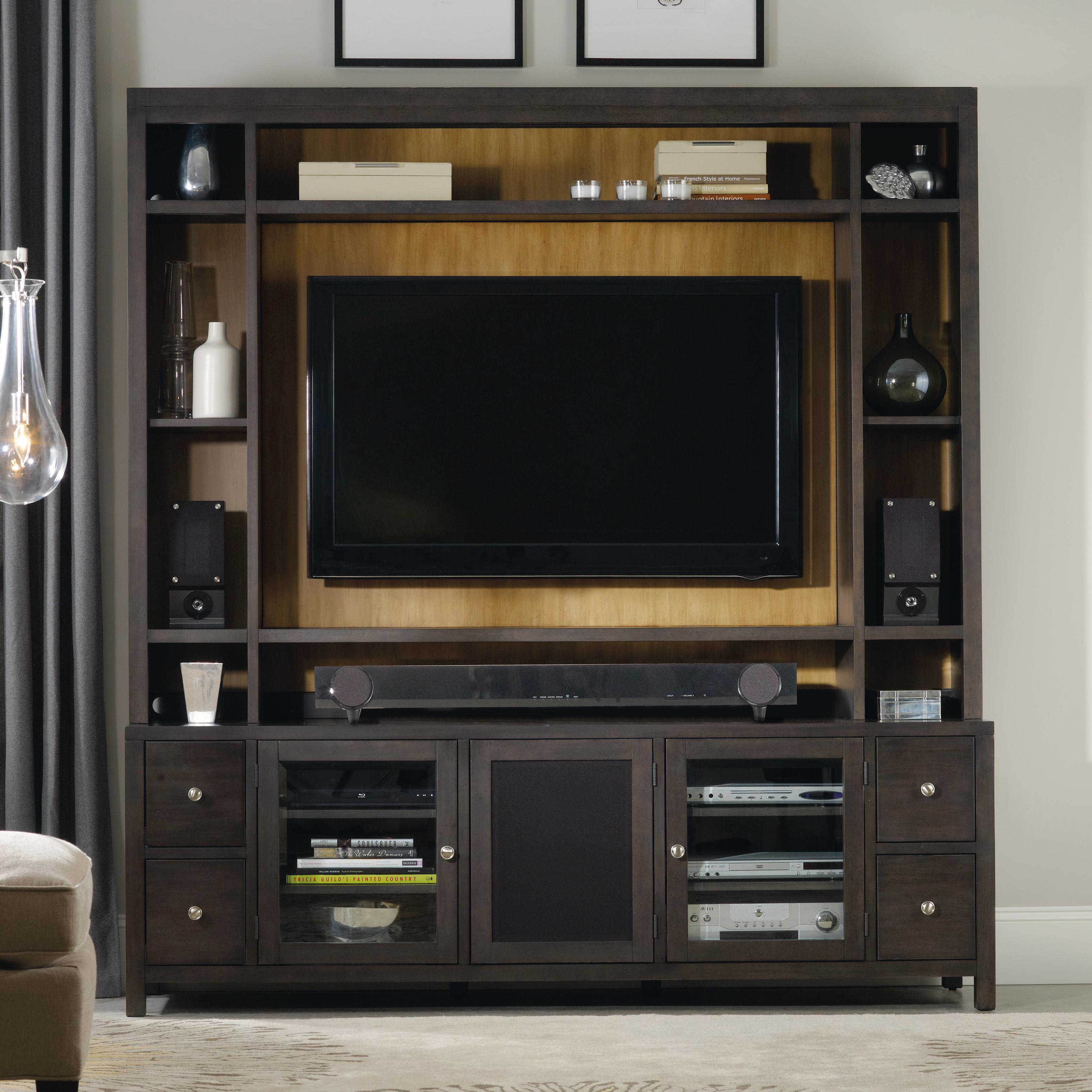 Hooker Furniture South Park Entertainment Console with Hutch - Item Number: 5078-55486+586