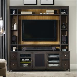 Hooker Furniture South Park Entertainment Console with Hutch