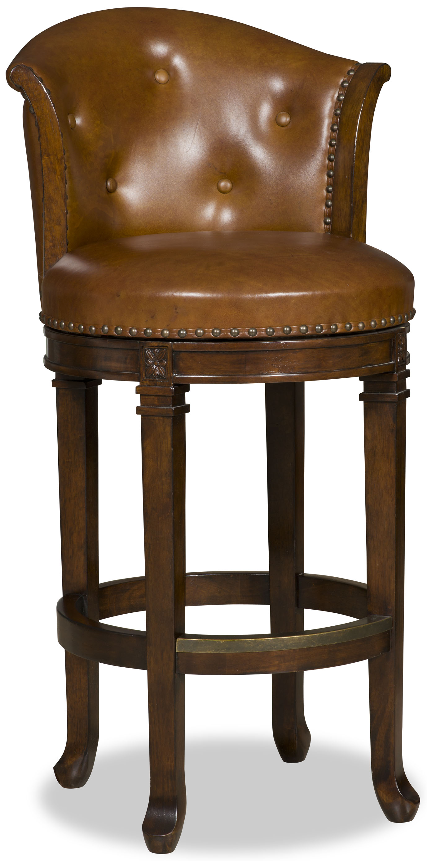 Hooker Furniture Stools Dark Manhattan - Transitional Barstool - Item Number: 300-20002