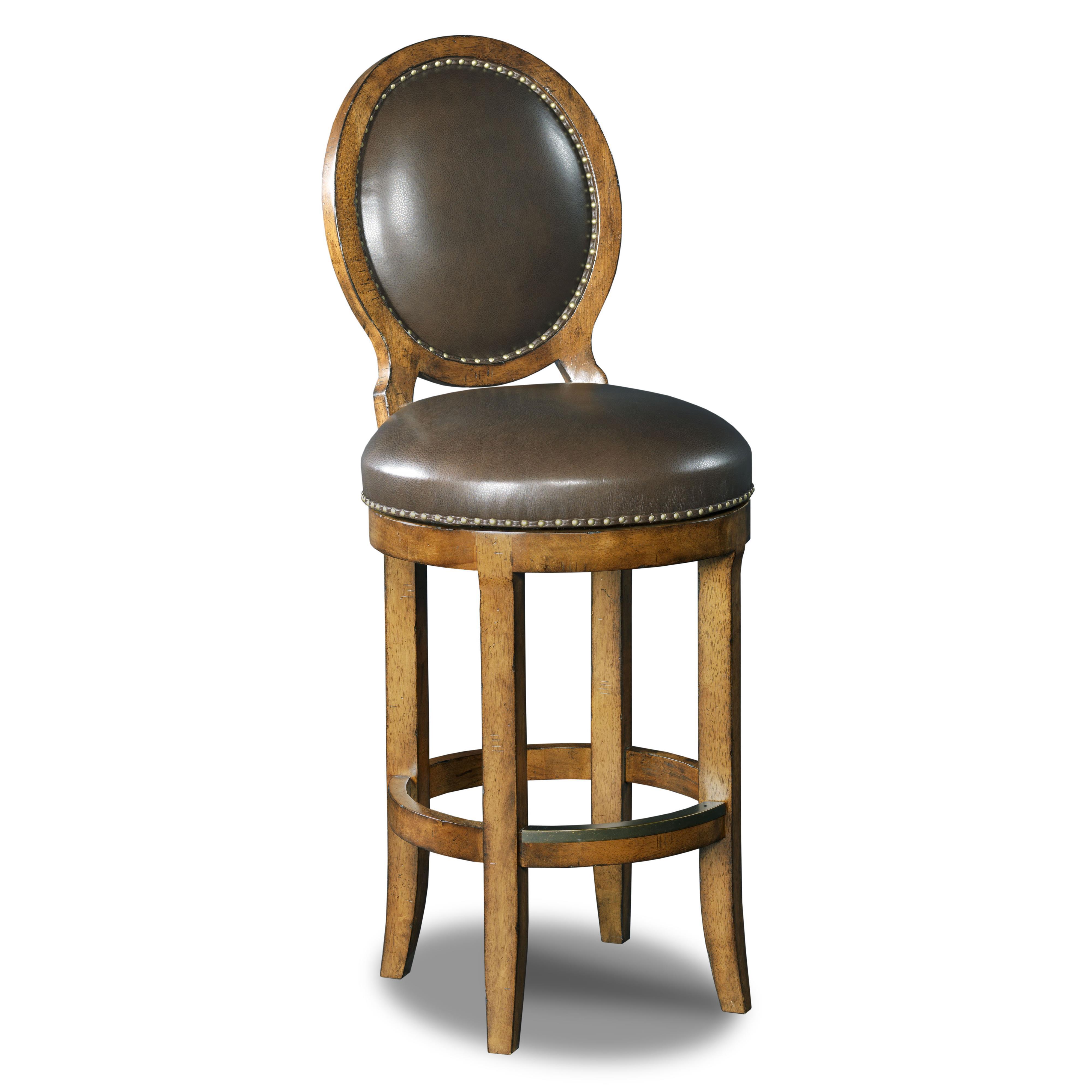 Hooker Furniture Stools Medium Mojito Oval Back Barstool - Item Number: 300-20003