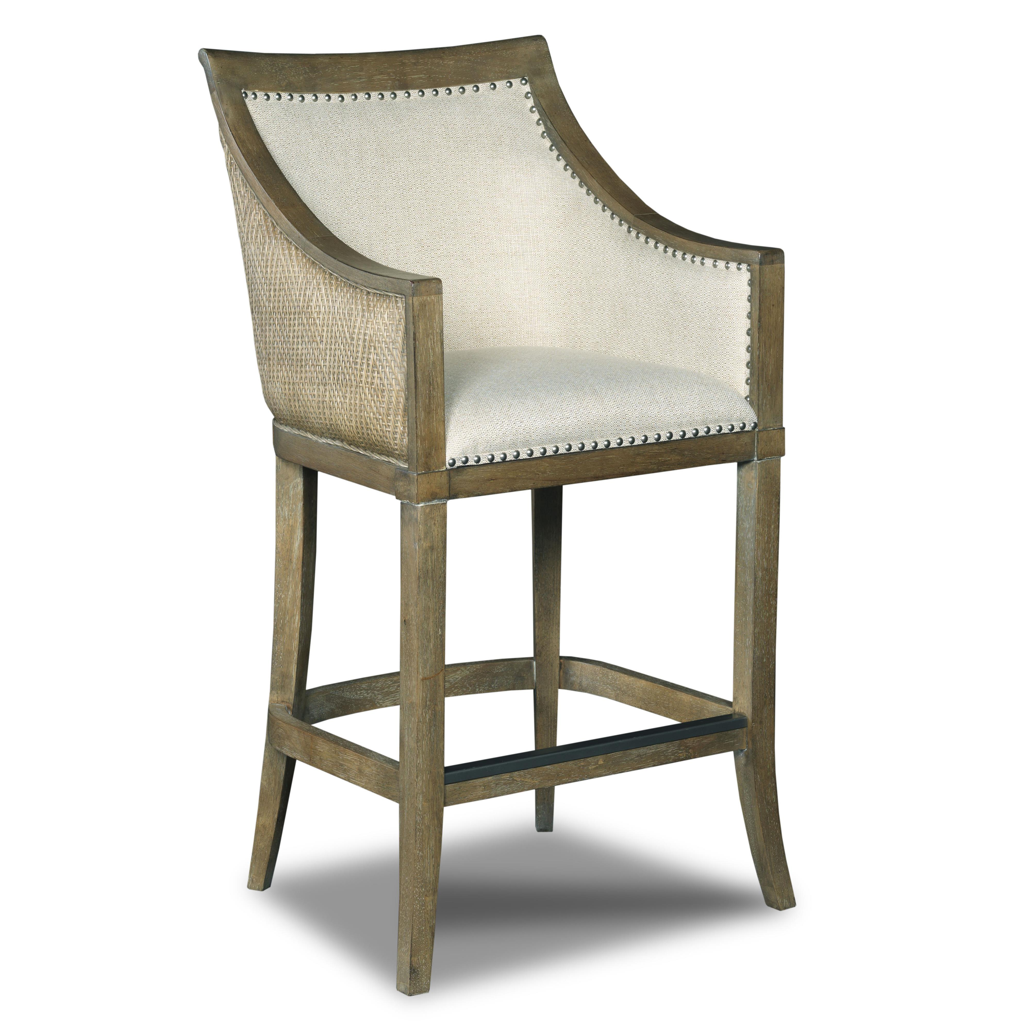 Hooker Furniture Stools Light Sea Breeze - Tropical Barstool - Item Number: 300-20007