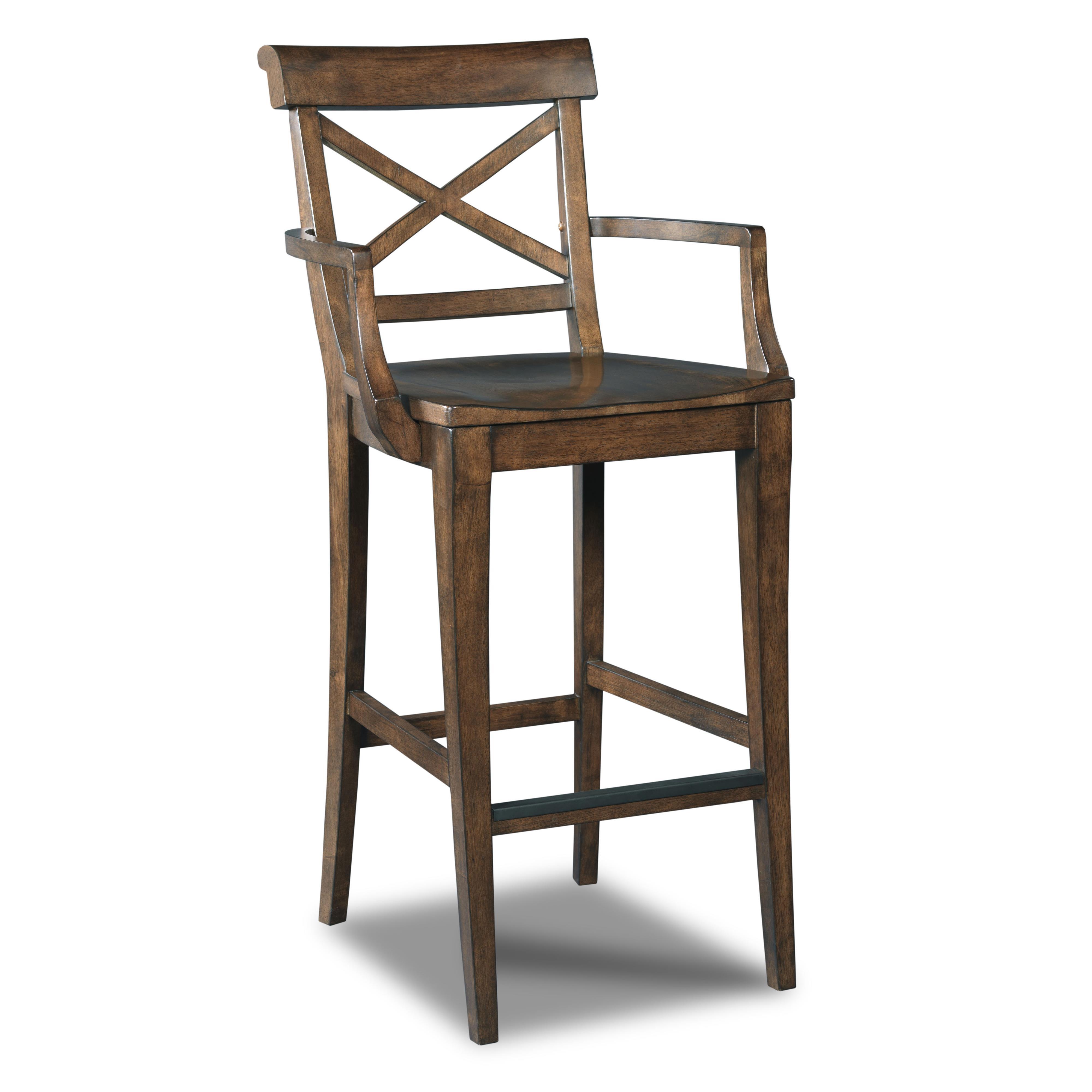 Hooker Furniture Stools Medium Rob Roy X-Back Barstool - Item Number: 300-20008