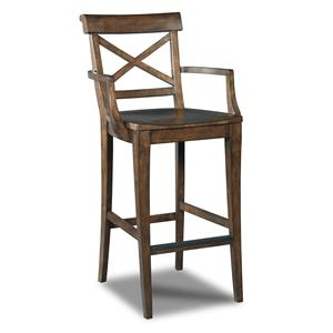 Hooker Furniture Stools Medium Rob Roy X-Back Barstool
