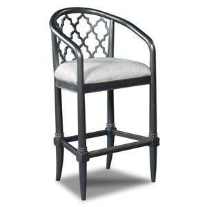 Hooker Furniture Stools Dark Cosmopolitan Geometric Barstool