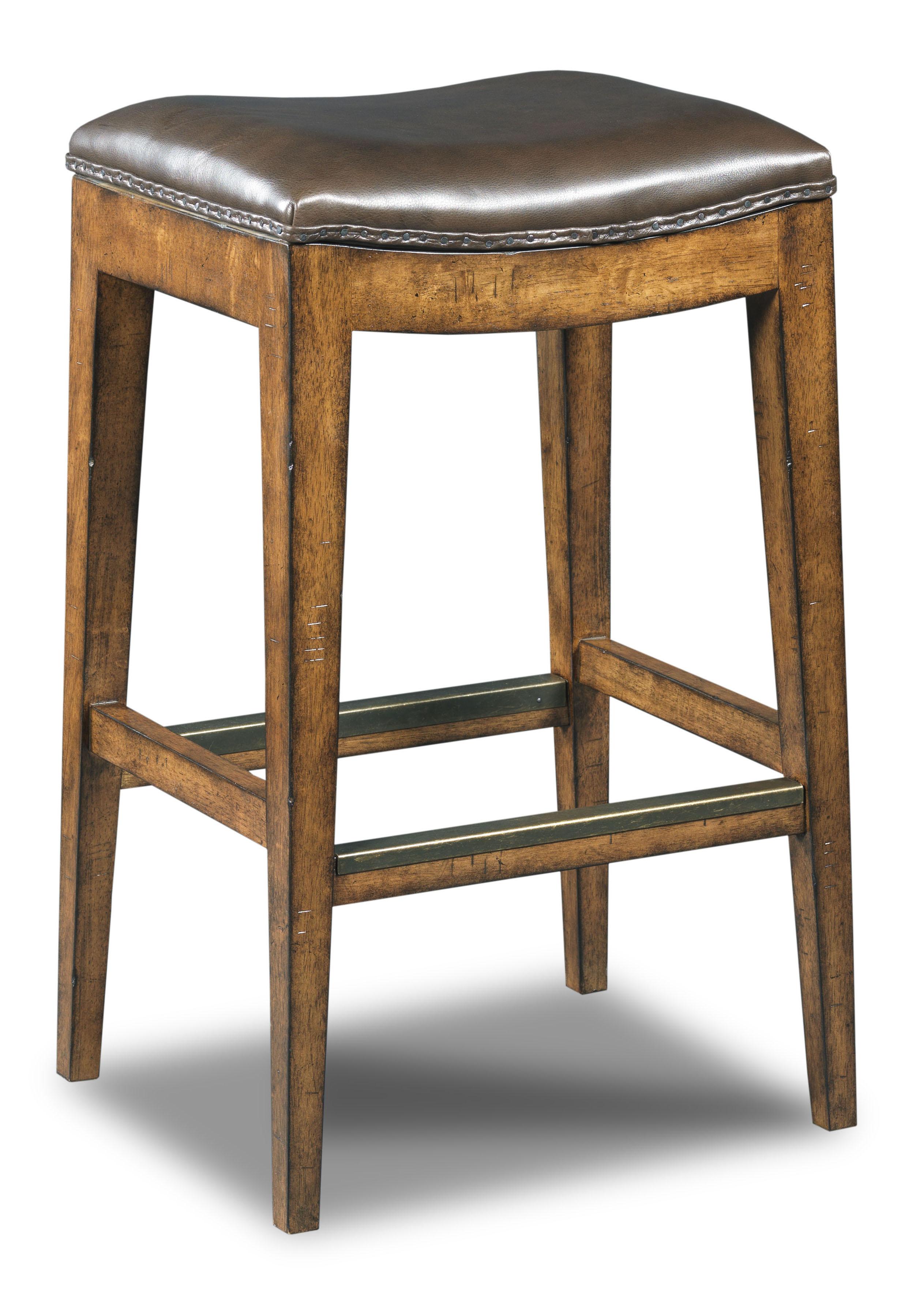 Hooker Furniture Stools Medium Sangria Rec Backless Barstool - Item Number: 300-20014