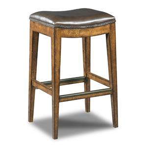 Hooker Furniture Stools Medium Sangria Rec Backless Barstool