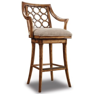 Hooker Furniture Stools Medium Cabernet Barstool