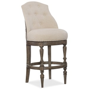 Hooker Furniture Stools Medium Kacey Deconstructed Barstool