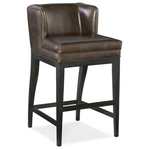 Hooker Furniture Stools Dark Jada Contemporary Barstool