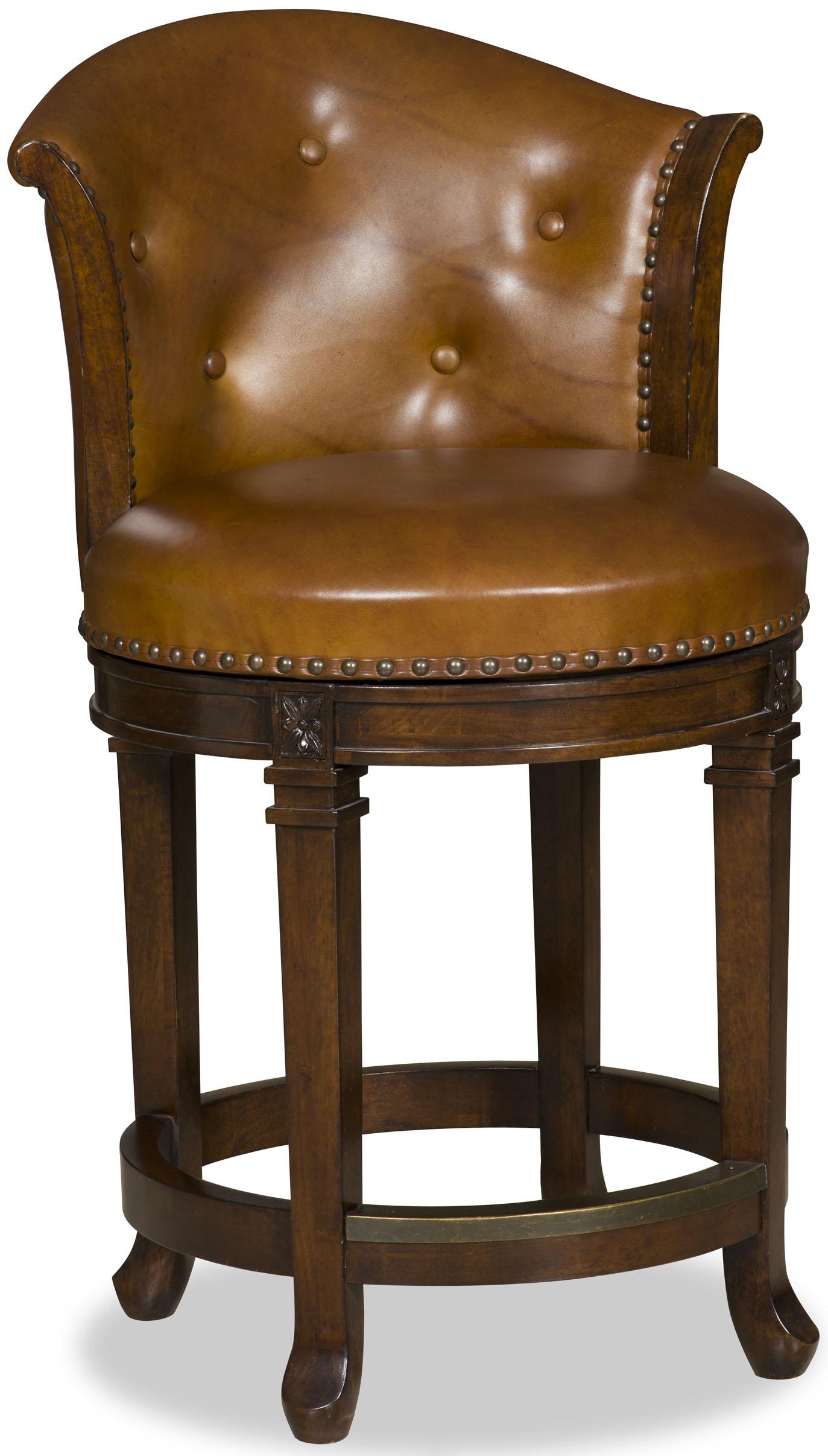 Hooker Furniture Stools Dark Manhattan Transitional Counter Stool - Item Number: 300-25002